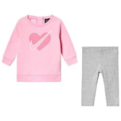 NIKE Pink Branded Dri Fit Tunic with Unicorn Legging Set