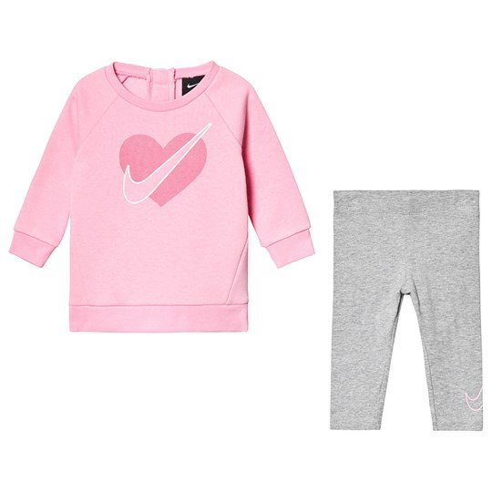 NIKE Heart Tunic Leggings Sæt Pink 042