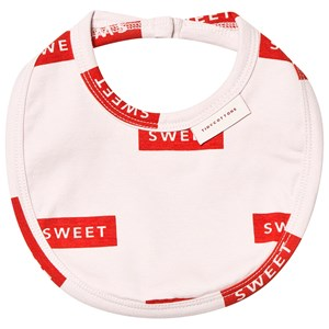 Image of Tinycottons Sweet Bib Pearl/Red (3151388451)