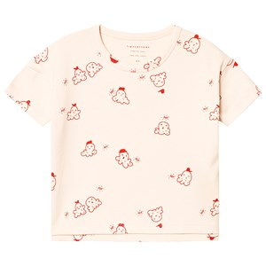 Image of Tinycottons Popcorn Tee Cream/Red 8 år (3151388373)