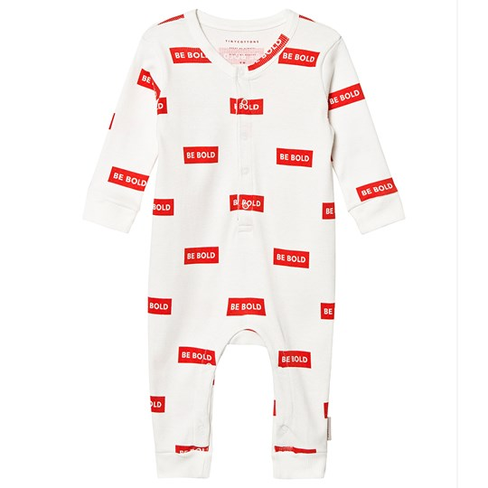 Tinycottons Smile Ls One-Piece Off-White/Red off-white/red