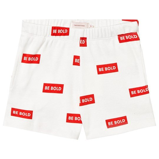 Tinycottons Be Bold Shorts Off-White/Röd off-white/red
