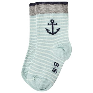 Image of Melton Anchor Socks Directory Blue 20-22 (3144405701)
