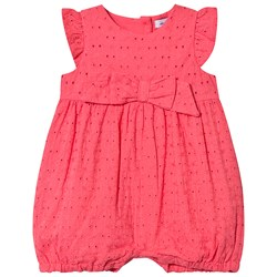 Absorba Pink Broderie Anglaise Romper