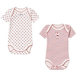 Absorba Red Stripe and Dot Baby Body 2-Pack