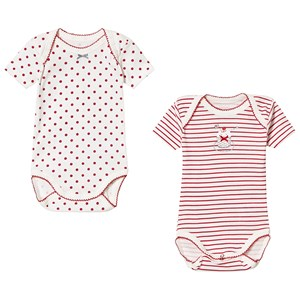Image of Absorba Red Stripe and Dot Baby Body 2-Pack 12 months (3125309641)