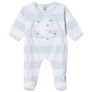 Image of Absorba Pale Blue Moon Footed Baby Body Newborn (3125316961)