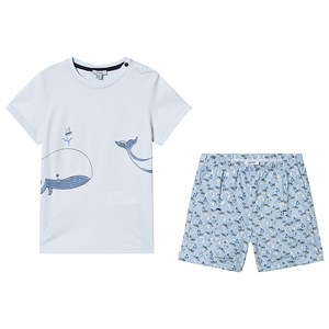 Image of Absorba Blue Whale Tee and Shorts Set 12 months (3125308183)