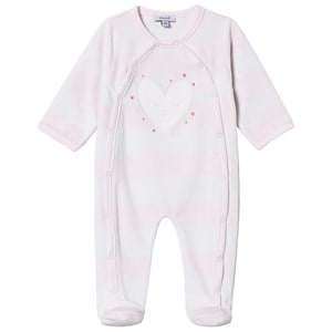Image of Absorba Pale Pink Heart Footed Baby Body Newborn (3125347859)