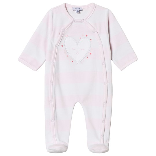 Absorba Pale Pink Heart Footed Baby Body 34