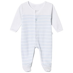 Absorba Blue and White Striped Footed Baby Body