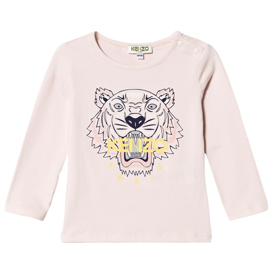 Kenzo Pale Pink Tiger Print Long Sleeve Tee 32