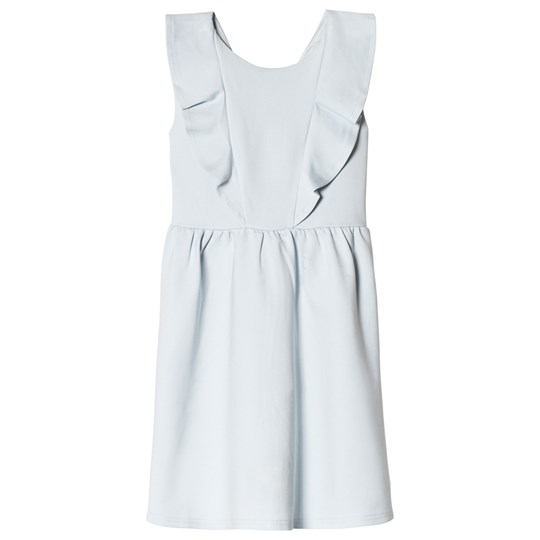 Bardot Junior Light Blue Frill Sheylah Ponti Dress Illusion Blue