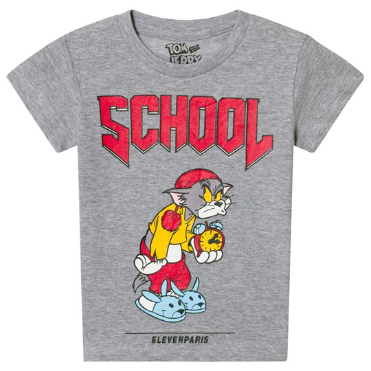 Eleven Paris Gray Tom School Print T-Shirt M03