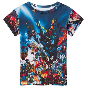 Image of Little Eleven Paris Multi Justice League All Over Print T-Shirt 2 years (2996518375)