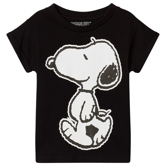 Eleven Paris Black Snoopy Print T-Shirt M06