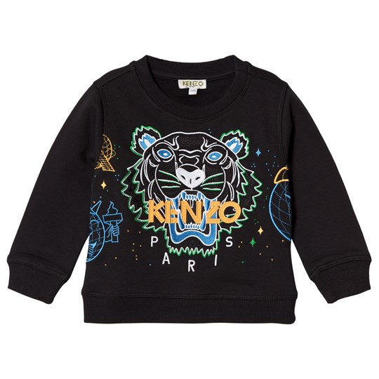 Kenzo Black Embroidered Tiger Cosmic Sweatshirt 29