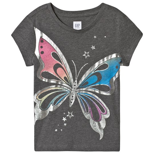 GAP Graphic Butterfly T-shirt Grey Butterfly
