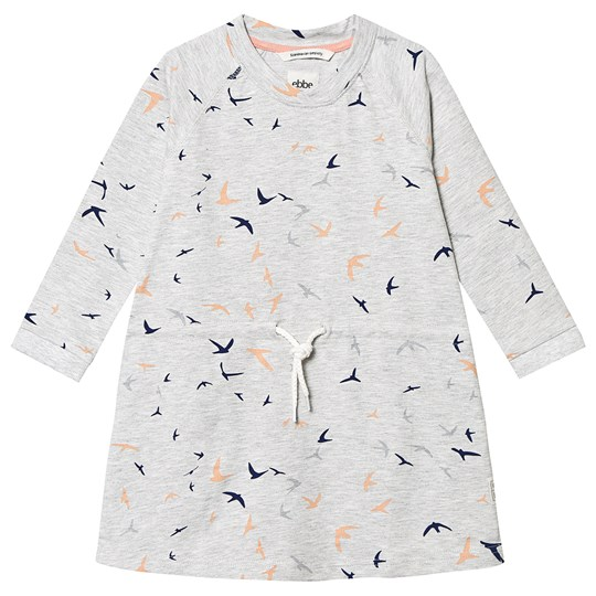 ebbe Kids Doris Dress Peach/Blue Birds Peach/blue birds