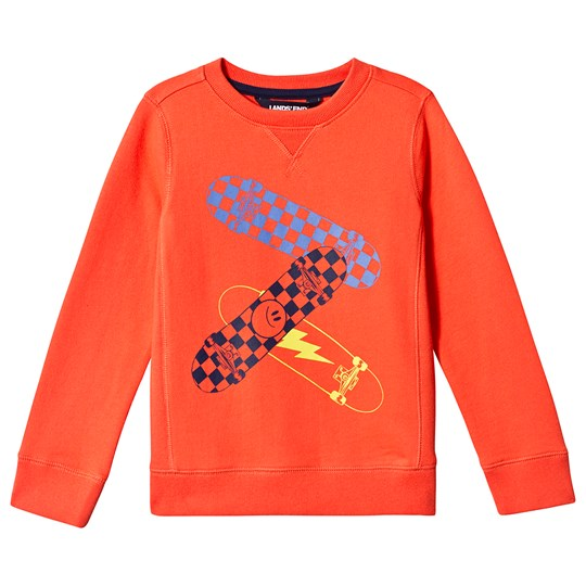 Lands' End Skateboard Sweatshirt Orange BPB