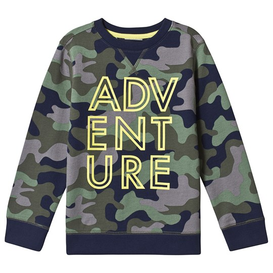 Lands' End Adventure Sweatshirt Camo/Green H2S