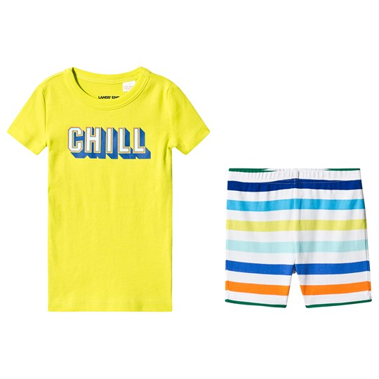 Lands' End Chill Pajamas Yellow 3R4