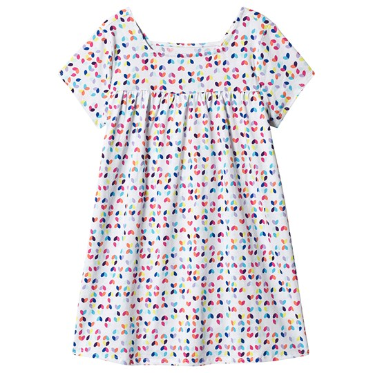 Lands' End Multicolor Heart Dress White KU9