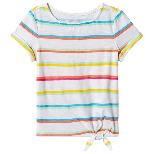 Lands' End Multi Stripe Tee White IHU