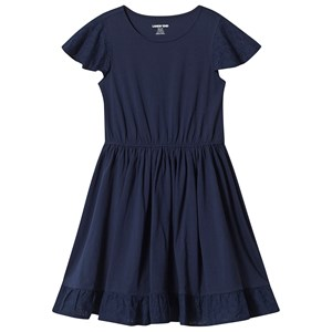 Image of Lands' End Navy Flutter Sleeve Eyelet Dress 10-11 years (3152001367)