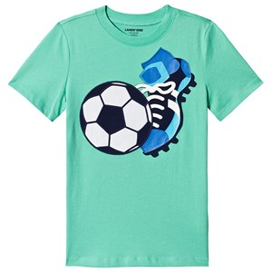 Image of Lands' End Green Football Print Tee 4 years (3152001473)