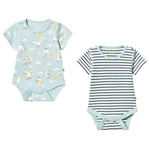 Image of Frugi Blue Bailey 2 Pack Bodies 3-6 months (3151999819)