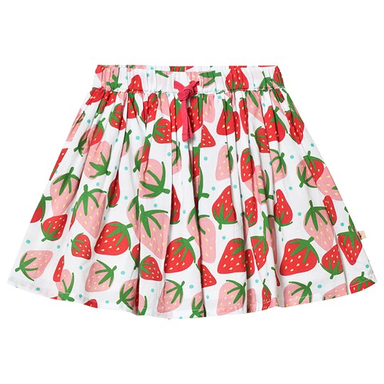 Frugi Fiona Strawberry Skirt White Scilly Strawberries