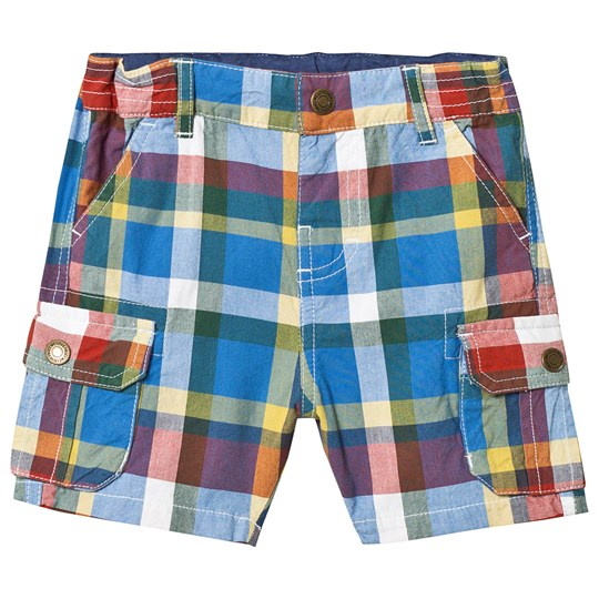 Frugi Check Shorts Multi Scilly Check