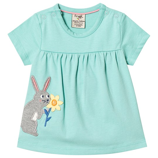 Frugi Eva Rabbit Top Turquoise St Agnes/Rabbit