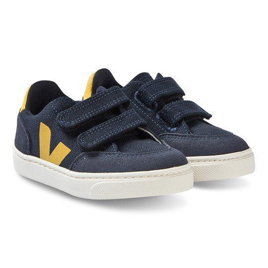 Veja V-12 B-Mesh Sneakers Navy/Yellow Nautico Gold Yellow