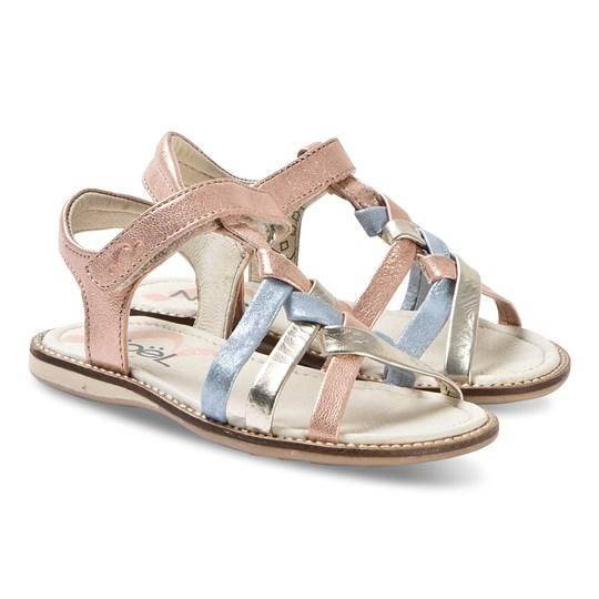 Noël Strassy Leather Sandals Bronze/Blue 145