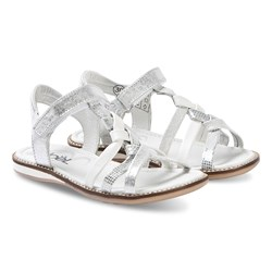 Noël Strassy Leather Sandals Silver/White