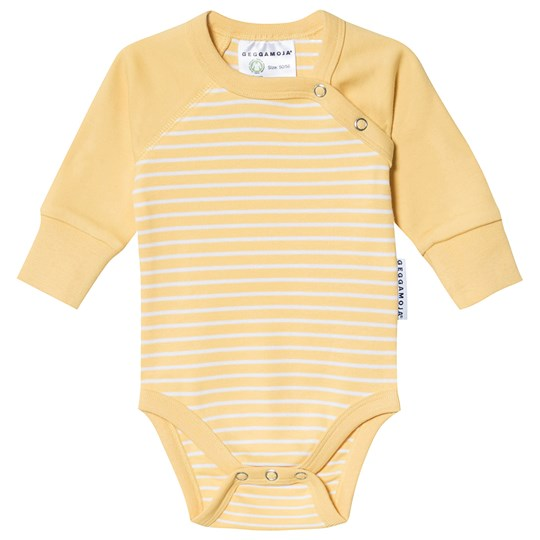Geggamoja Stripe Baby Body Gul/Hvid Yellow/White