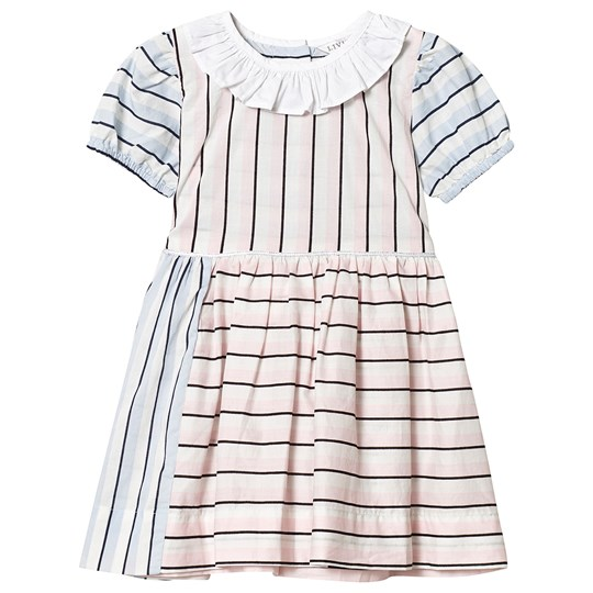 Livly Rosie Dress Pink/Blue pink/ blue block candy stripes