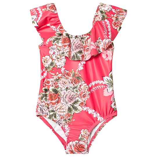 Seafolly Little Village Ruffle Swimsuit Pink Rose Pink
