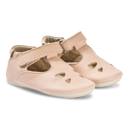 Young Soles Tippi T Bar Baby Shoes Nude Pink Nude pink