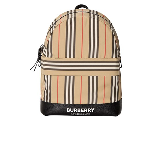 Burberry Beige Archive Stripe Nico Backpack A7028
