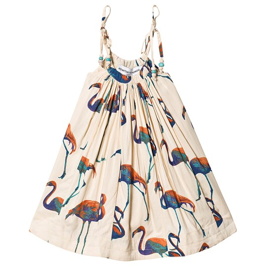 How To Kiss A Frog Coni Dress Off White Flamingo off white flamingo