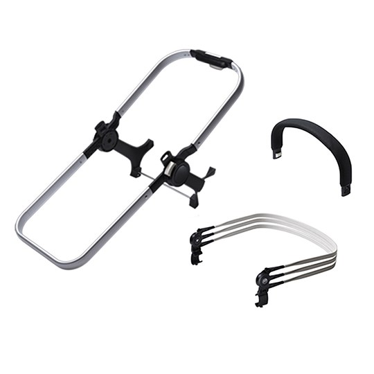 Bugaboo Donkey2 Duo Extension Set for Base+ Aluminum Silver