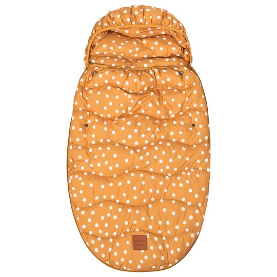 Buddy & Hope Spring Footmuff Yellow with Dots