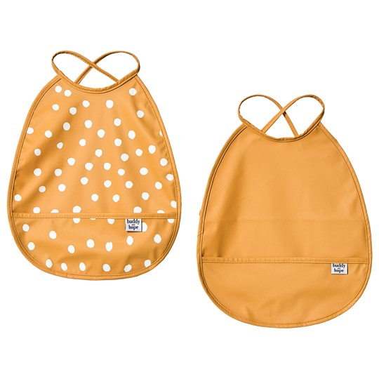 Buddy & Hope Bib 2-Pack Yellow with Dots