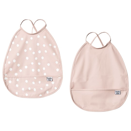 Buddy & Hope Bib 2-Pack Pink with Dots