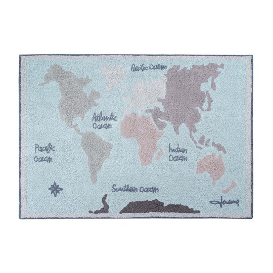 Lorena Canals Vintage Map Rug 140 x 200 cm New Blue