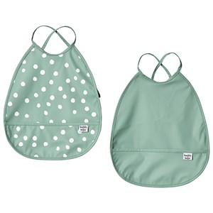 Image of Buddy & Hope Bib with Arms 2-Pack i Grå One Size (1304797)