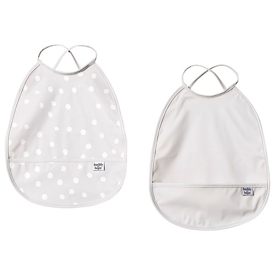 Buddy & Hope Bib 2-Pack Grey with Dots